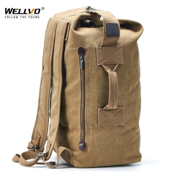 Canvas Army Travel Men Backpacks