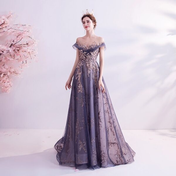Elegant Banquet Sequins Gown Dress