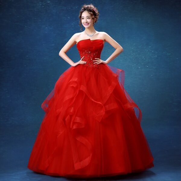 Party Elegant Strapless Quinceanera Dress