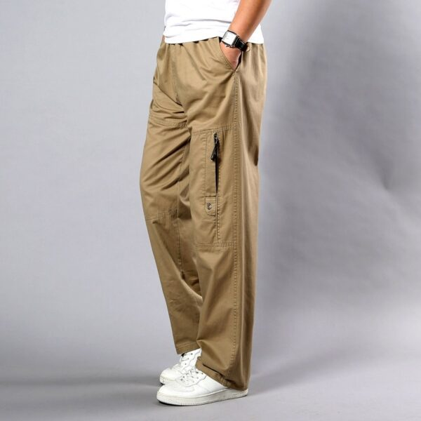 Men Business Casual Cotton Pants