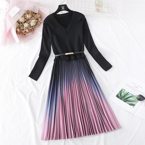 Autumn Winter Elegant Women Dress