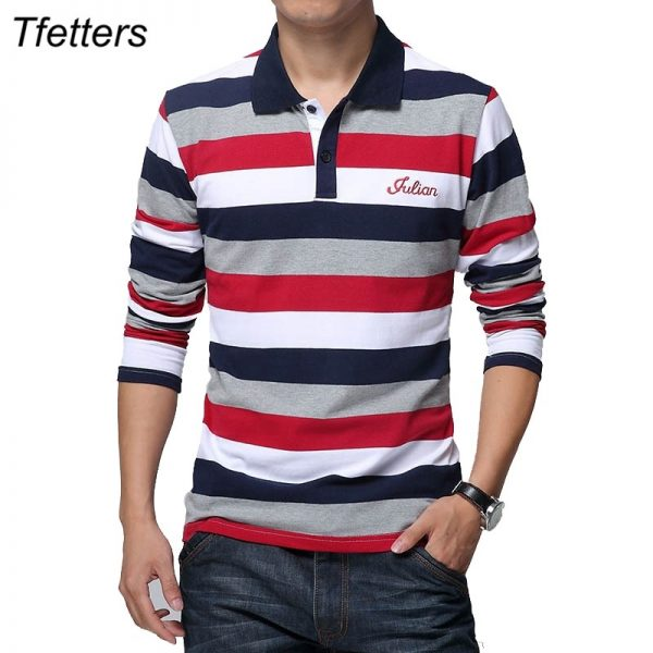 Men's Stripe Pattern Print T-shirt