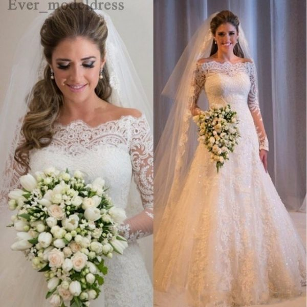 Mermaid Off Shoulder Wedding Bridal Dresses