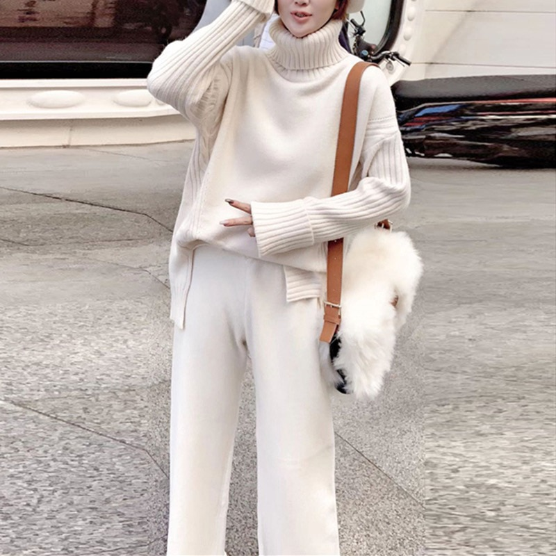 Women Spring Warm Pullovers Tracksuit