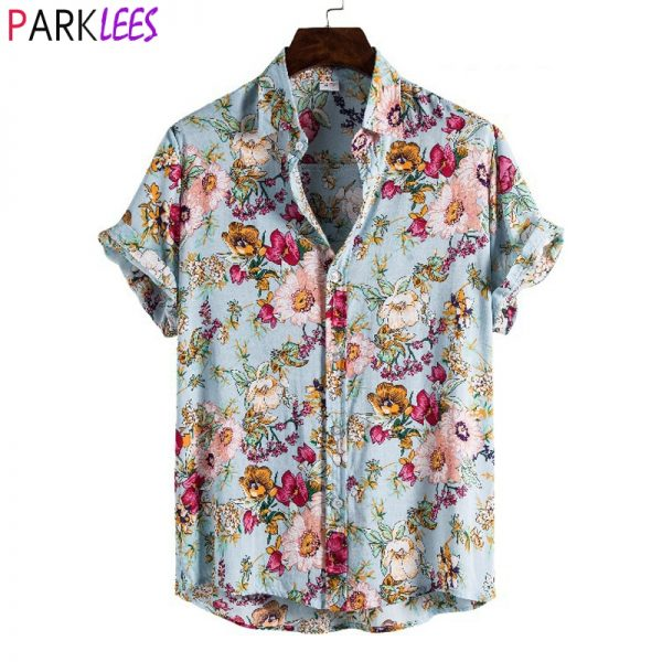 Summer Short Floral Casual Shirt