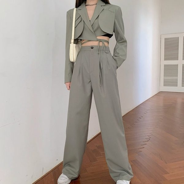 Summer Blazer Coat Pants Suit