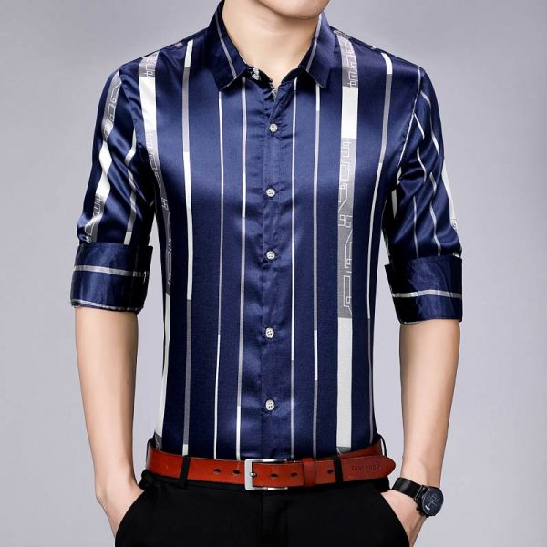 Long Sleeve Striped Casual Shirts
