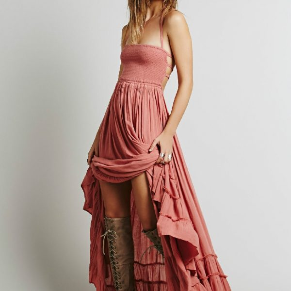 Women Long Backless Party Dresses