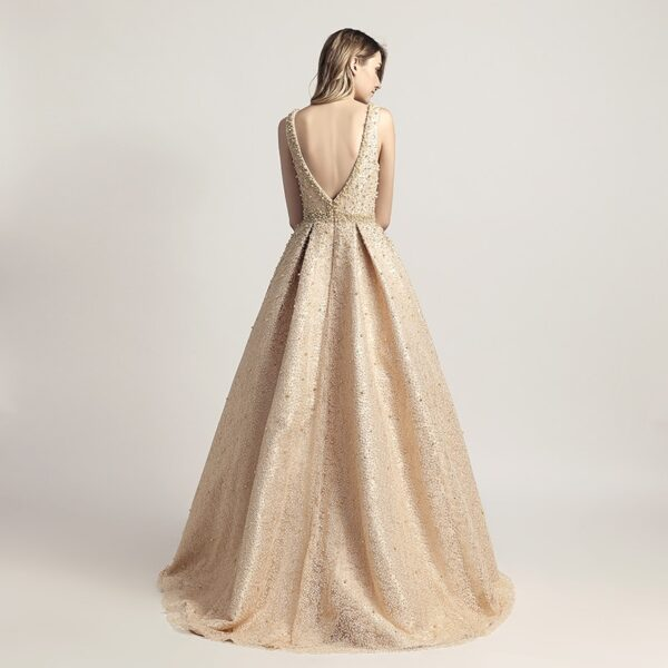 Backless Sleeveless Gowns Party Dresses
