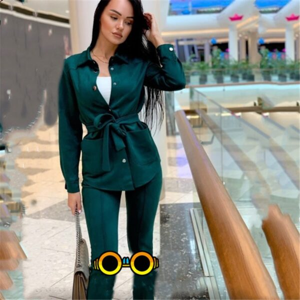 Autumn Women's Collar Breasted Tracksuit