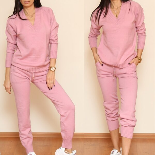 Women Autumn Pullovers Casual Suits