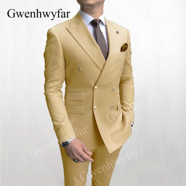 Male Double Breasted Party Suits